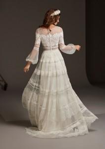 abito da sposa boho maniche lunghe 2020 pronovias  DELPHINE-C